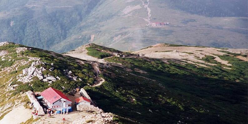 北アルプス薬師岳から薬師岳山荘方面