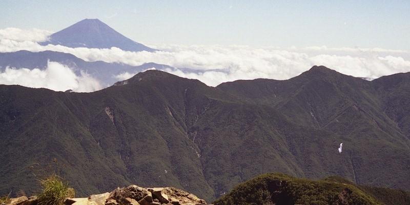 赤石岳からの富士山