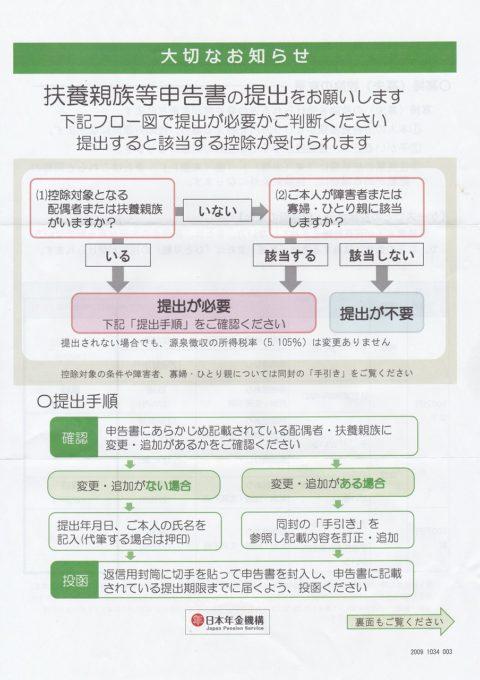 扶養親族等申告書お知らせ20-10